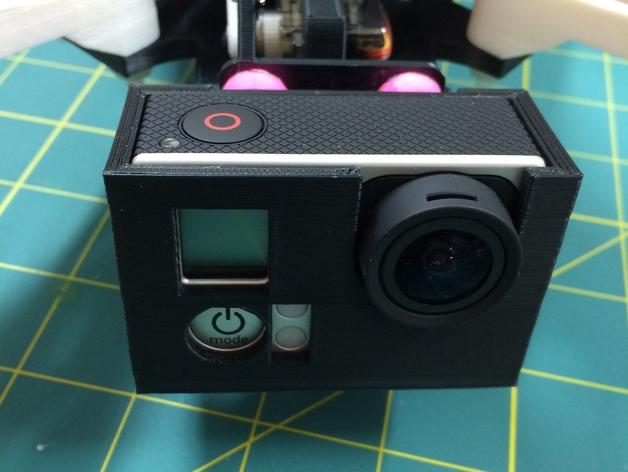 多轴飞行器 GoPro3相机保护套 3D打印模型渲染图