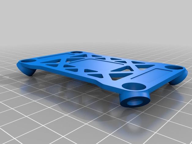 Pixhawk飞行控制器 防振支架 3D打印模型渲染图