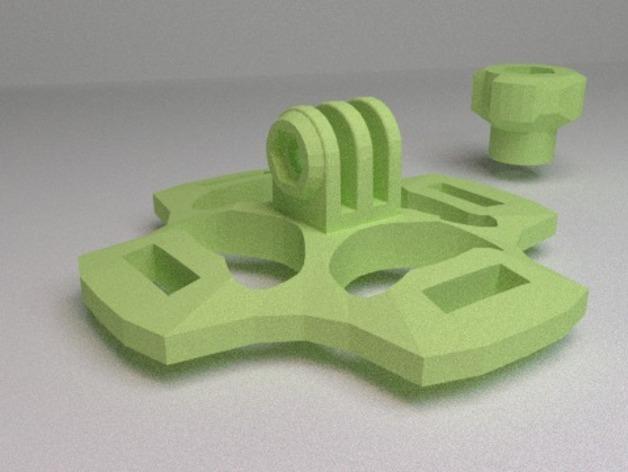 gopro相机 通用支架  3D打印模型渲染图