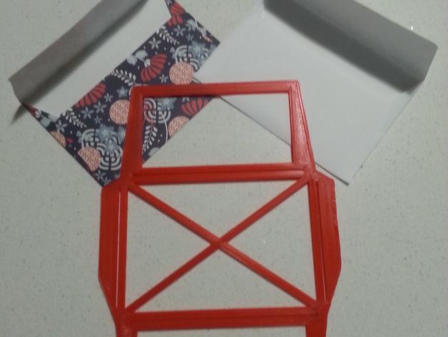 信封模板 3D打印模型渲染图