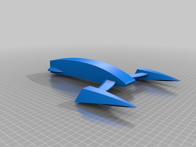 桨叉架船 3D打印模型渲染图