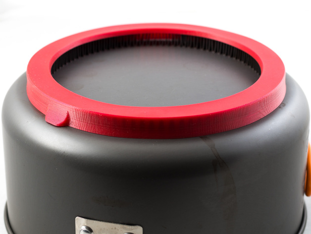 捷宝平底锅磁通环保护环 3D打印模型渲染图