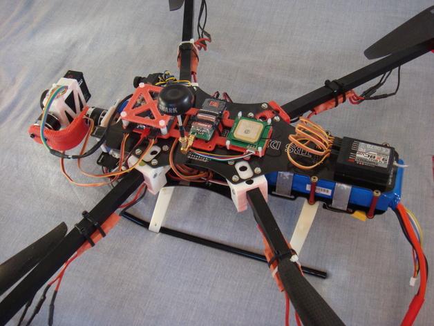 F450 TBS直升飞机延伸装配台架