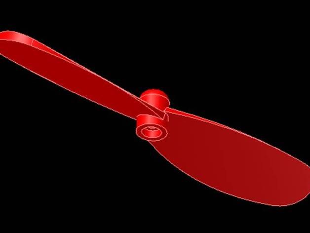 四轴飞行器 桨叶 3D打印模型渲染图