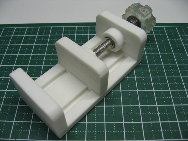 参数型可打印虎钳夹 3D打印模型渲染图
