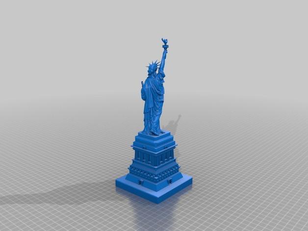 自由女神像和基地建设 3D打印模型渲染图