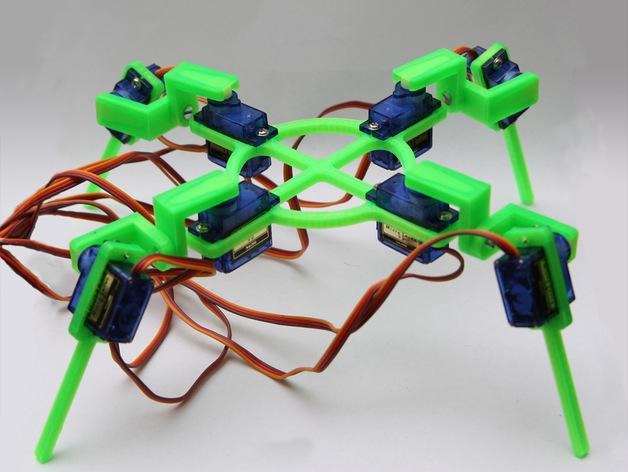 四脚机器人  3D打印模型渲染图