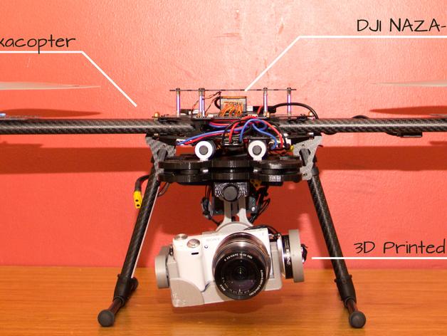 索尼相机常平架 3D打印模型渲染图