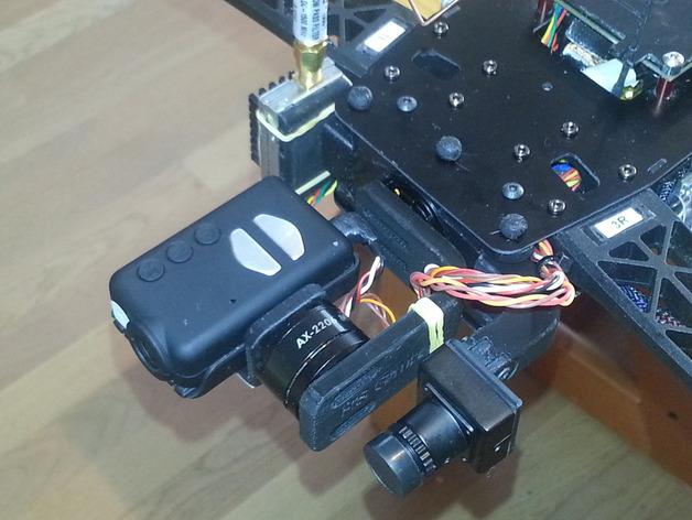 Mobuis HD相机常平架 3D打印模型渲染图
