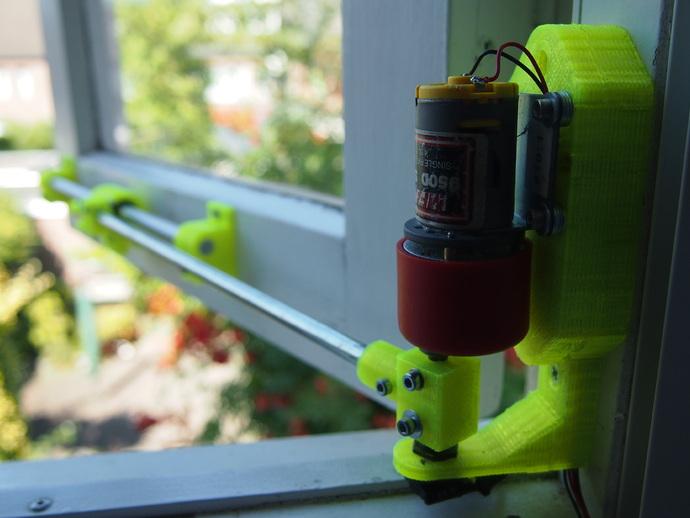 电动开窗器  3D打印模型渲染图