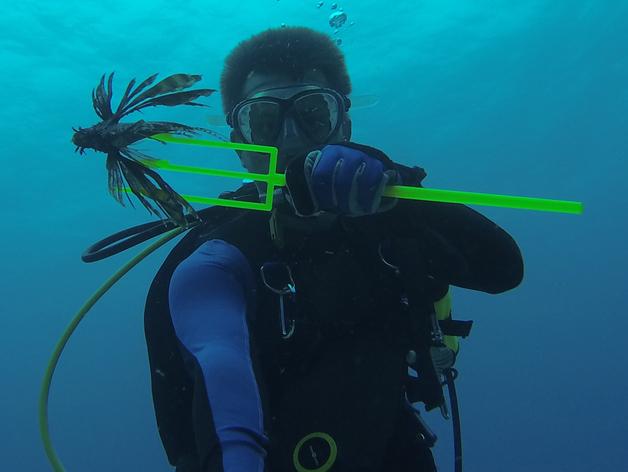 捕获狮子鱼的长矛 3D打印模型渲染图