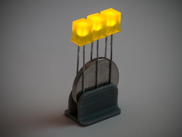 LED灯固定夹 3D打印模型渲染图
