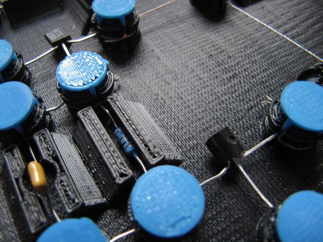 3D打印的电路板 3D打印模型渲染图