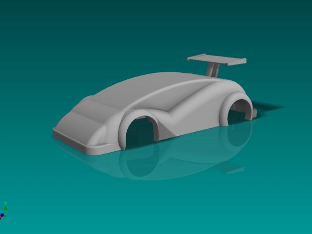 插槽车车身 3D打印模型渲染图