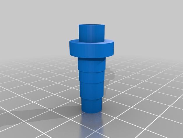 倒钩管连接器 3D打印模型渲染图