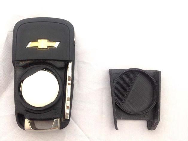 雪佛兰Spark EV轿车密钥卡后盖 3D打印模型渲染图