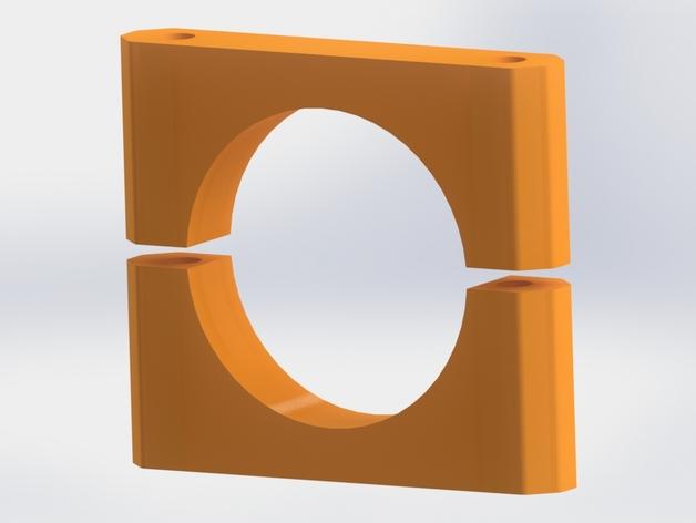 碳素纤维连接管支架 3D打印模型渲染图