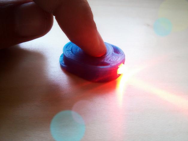 迷你手电筒 3D打印模型渲染图