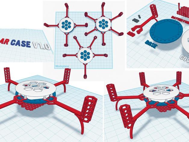Flexbot多轴飞行器框架 3D打印模型渲染图