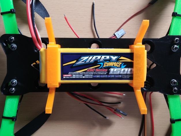 Hovership四轴飞行器的Zippy电池盒 3D打印模型渲染图