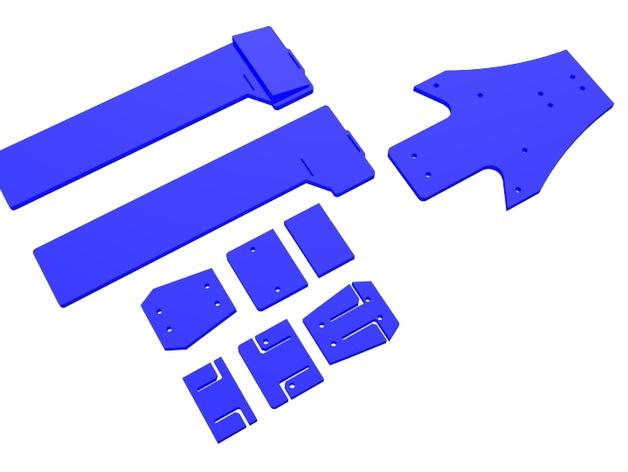 三轴飞行器组件