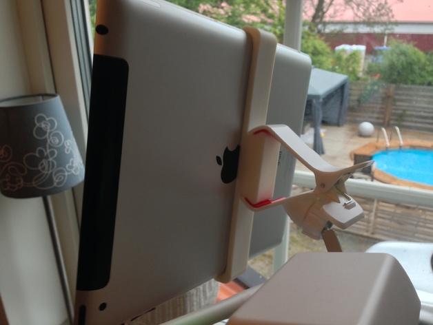 Dji Phantom的ipad夹持架 3D打印模型渲染图