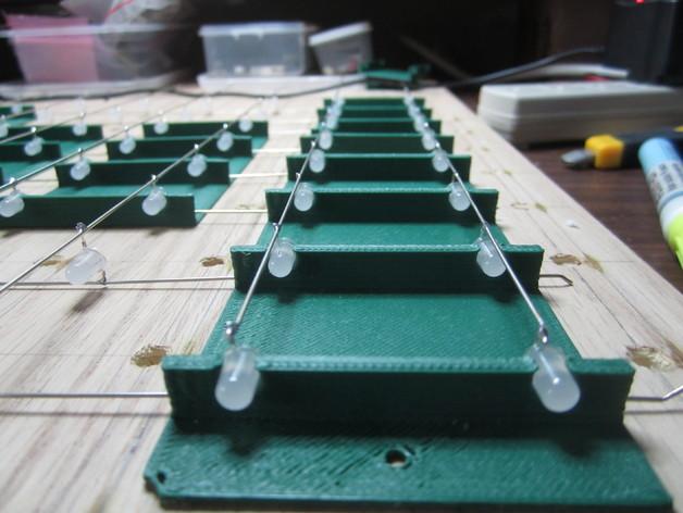 蓝色led立方垂直夹具 3D打印模型渲染图
