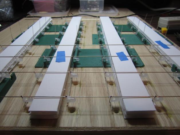 蓝色led立方垂直夹具