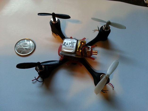 四轴飞行器可替换机身 3D打印模型渲染图