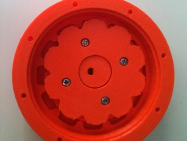 圆内螺线 变速箱 3D打印模型渲染图