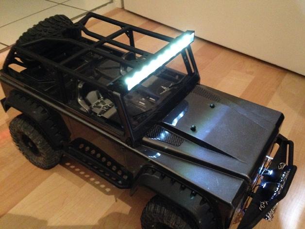 攀爬遥控车LED光条 3D打印模型渲染图