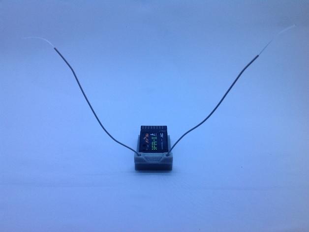 FrSky V8FR-II 接收机V字形天线架 3D打印模型渲染图