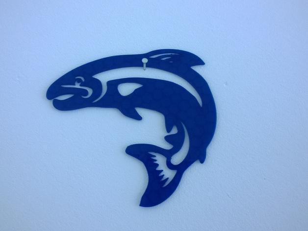 鳟鱼 3D打印模型渲染图