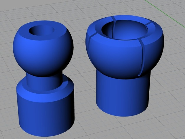 球形接头 3D打印模型渲染图