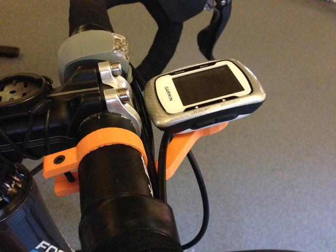 越野自行车把手GPS支架 3D打印模型渲染图