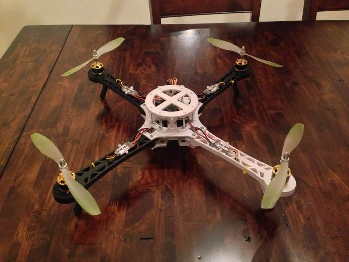 3D打印四轴飞行器 3D打印模型渲染图