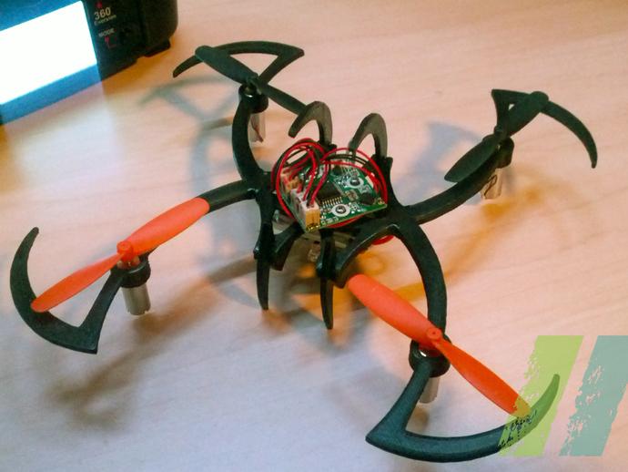 个性化UDI U816四轴飞行器 3D打印模型渲染图