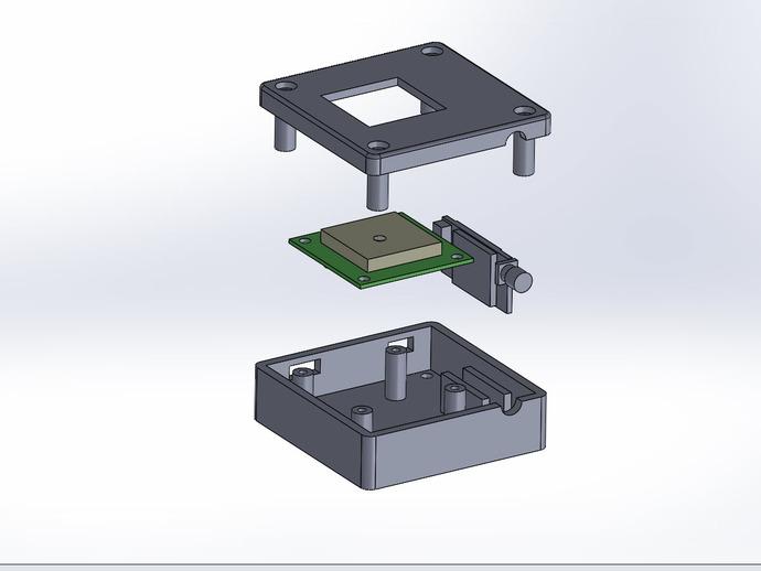 GPS和无线电小盒 3D打印模型渲染图