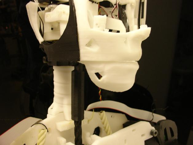 InMoov机器人下颚部分 3D打印模型渲染图