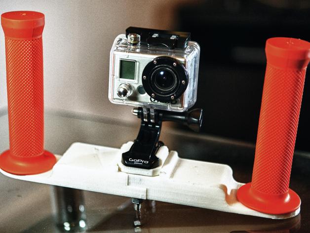 潜水GoPro相机手柄 3D打印模型渲染图