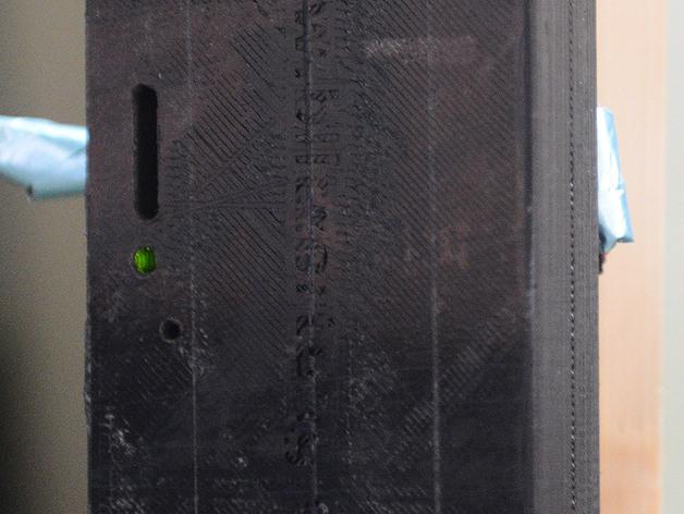 电视红色信号放大器 外壳 3D打印模型渲染图