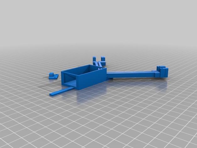 FrSky X8R天线架 3D打印模型渲染图