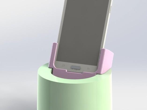 车载三星Galaxy S5手机架 3D打印模型渲染图