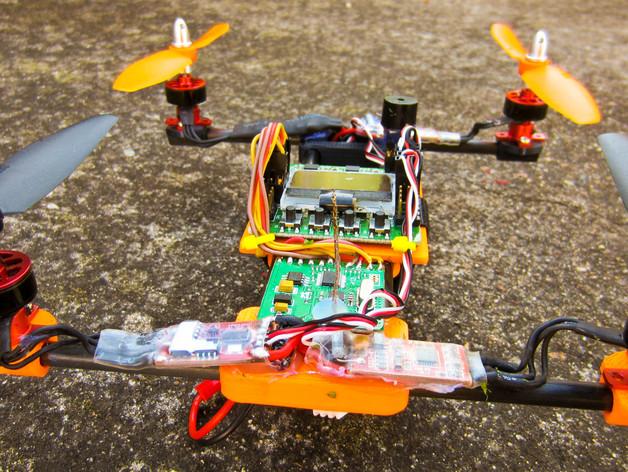 迷你四轴飞行器零部件 3D打印模型渲染图