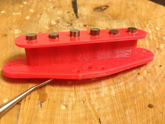 电吉他 拾音器支架 3D打印模型渲染图
