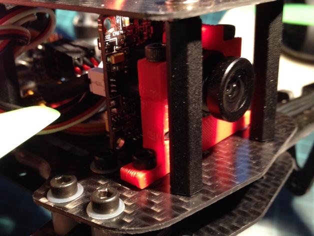 航拍飞行器相机架 3D打印模型渲染图