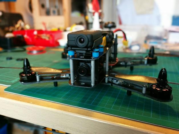 FLIP 26四轴飞行器Mobius相机底座 3D打印模型渲染图