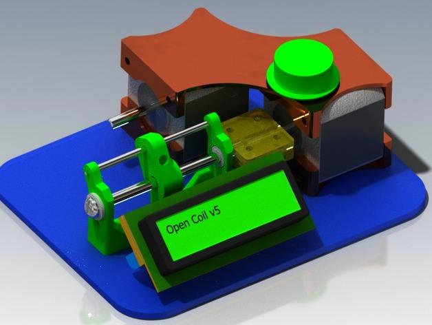 CoilBot智能卷线机 3D打印模型渲染图