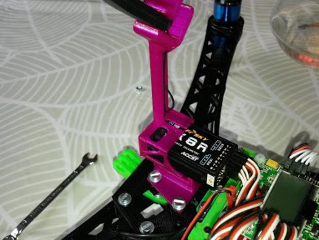 Frsky X8R接收机支架 3D打印模型渲染图