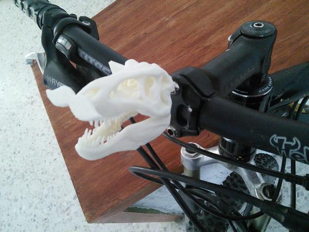 恐龙头骨 自行车车头装饰品 3D打印模型渲染图